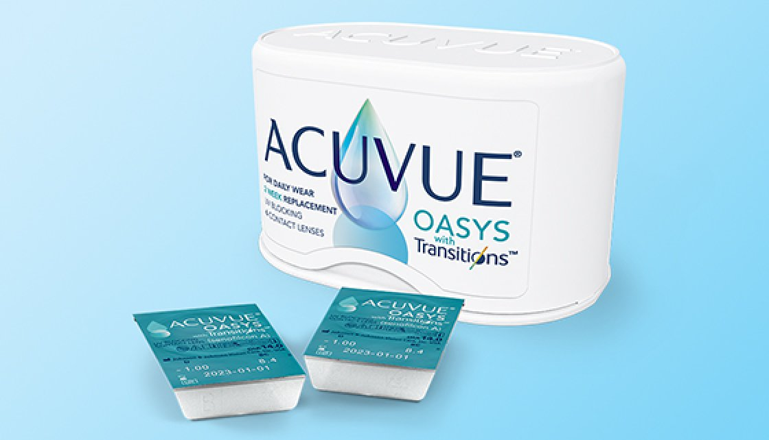 ACUVUE® OASYS contact lenses with Transitions™
