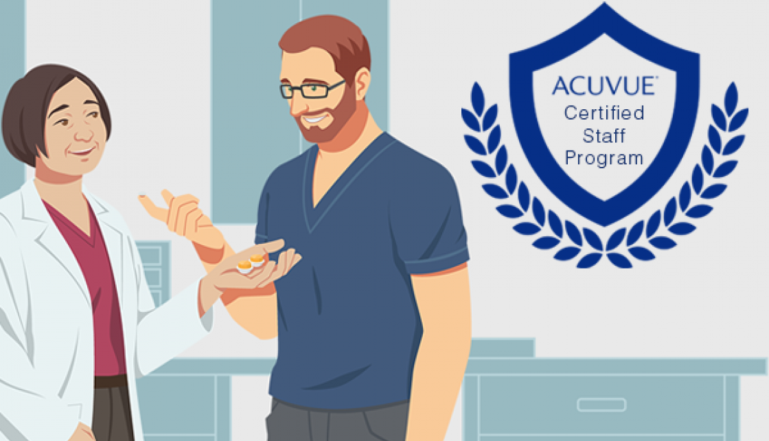 Expand your eye health knowledge with the ACUVUE® Certified Staff Program